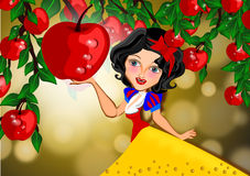 Princess Snow white Stock Image