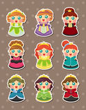 Princess stickers Stock Photos