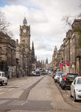 Princess street and Balmoral tower Stock Images