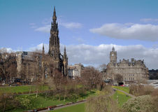 Princess Street, Edinburgh, Scotland. The Scott Monument in Princess Street, Edinburgh, Scotland, UK stock photography