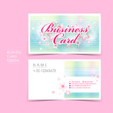 Princess style vector business card set Stock Photo