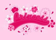Princess teksta broderia. Zdjęcie Stock
