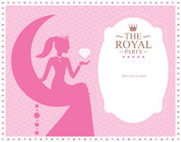 Princess template card design Stock Photography
