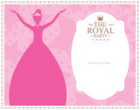 Princess template card design Royalty Free Stock Image