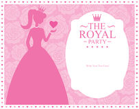 Princess template card design Stock Image
