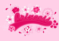 Princess text embroidery. Stock Photo