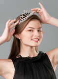 Princess in tiara Stock Images