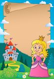Princess topic parchment 1 royalty free stock photos