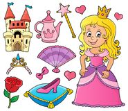 Princess topic set 1 royalty free stock images