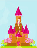 princess in tower Royalty Free Stock Images