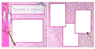 Princess In Training Digital Scrapbook Page Royalty Free Stock Photos