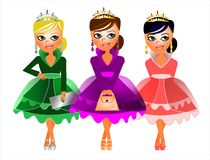 Princess Trio Stock Images