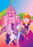 Princess with unicorn. royalty free stock photo