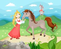 Princess. Vector illustration with a beautiful young princess vector illustration
