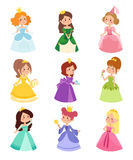 Princess vector set. Royalty Free Stock Photography