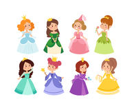 Princess vector set. Royalty Free Stock Image