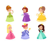 Princess vector set. Stock Images