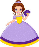 Princess Violet. Violet Princess with a fan in hand royalty free illustration