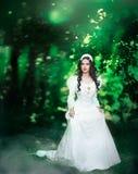 Princess w lesie Obrazy Royalty Free