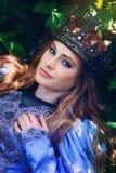 Princess w magicznym lesie fotografia royalty free