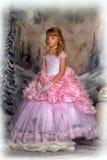 Princess w różowej sukni zdjęcie royalty free