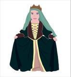 Princess w zielonej sukni Zdjęcia Royalty Free