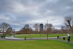 Princess of Wales Memorial Fountain in Hyde Park Stock Photo