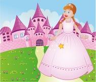 Princess. With Wand Pink Palace Stock Image