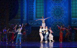 """The princess was highly revered- ballet """"One Thousand and One Nights"""". Ballet One Thousand and One Nights is based on the fairy tale with the same name in Royalty Free Stock Image"""