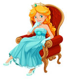 A princess wearing a blue gown Royalty Free Stock Photo