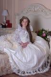 Princess in a white dress Stock Photos
