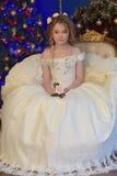 Princess in a white dress retro Stock Image