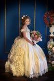 Princess in a white dress retro Royalty Free Stock Photo