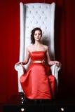 Princess woman ina red Stock Photography