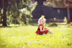 Princess in the woods Royalty Free Stock Photo