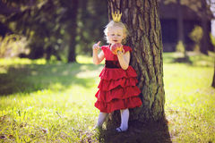 Princess in the woods Stock Photo