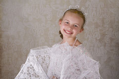 The Princess. Young girl playing princess for the camera Stock Photo