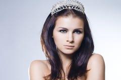 Princess z diamentową koroną fotografia stock