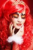 Princess z jaskrawym czerwonym włosy Fotografia Royalty Free