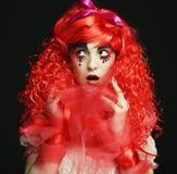 Princess z jaskrawym czerwonym włosy Zdjęcie Stock