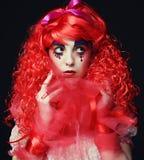 Princess z jaskrawym czerwonym włosy Obrazy Royalty Free