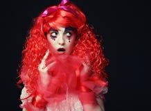 Princess z jaskrawym czerwonym włosy Zdjęcie Royalty Free