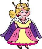 Princess z koroną Obraz Royalty Free