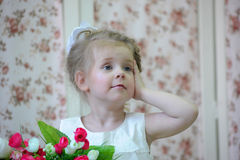 Princess z kwiatami Zdjęcia Stock