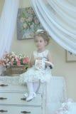 Princess z kwiatami Obraz Royalty Free