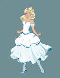 Princess z złocistym włosy Obraz Stock