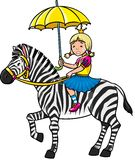 Princess and zebra Royalty Free Stock Photo