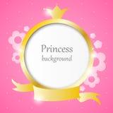 Princessbakgrund Arkivfoton