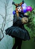 Princesse avec des ballons. images stock