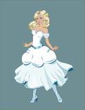 Princesse avec des cheveux d'or Image stock